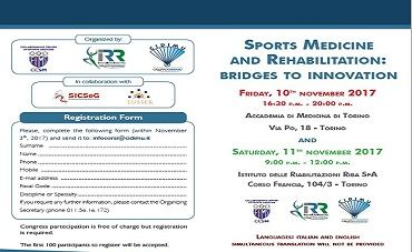 Sport medicine and rehabilitation: bridges to innovation